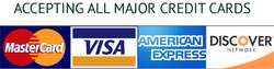 Accepting Visa, Mastercard, American Express and Discover